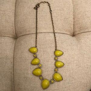 Chartreuse Statement Necklace JCrew